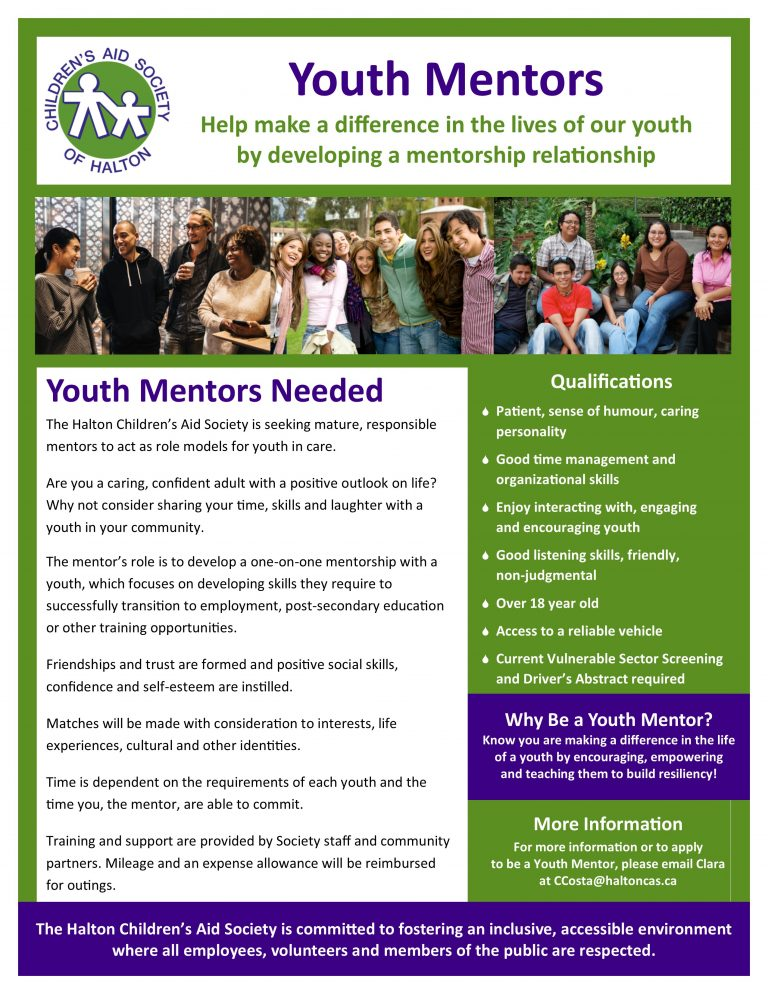 youth mentor flyer