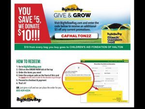 Advert for CAFH Give & Grow Program